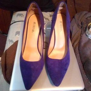 Suede heels